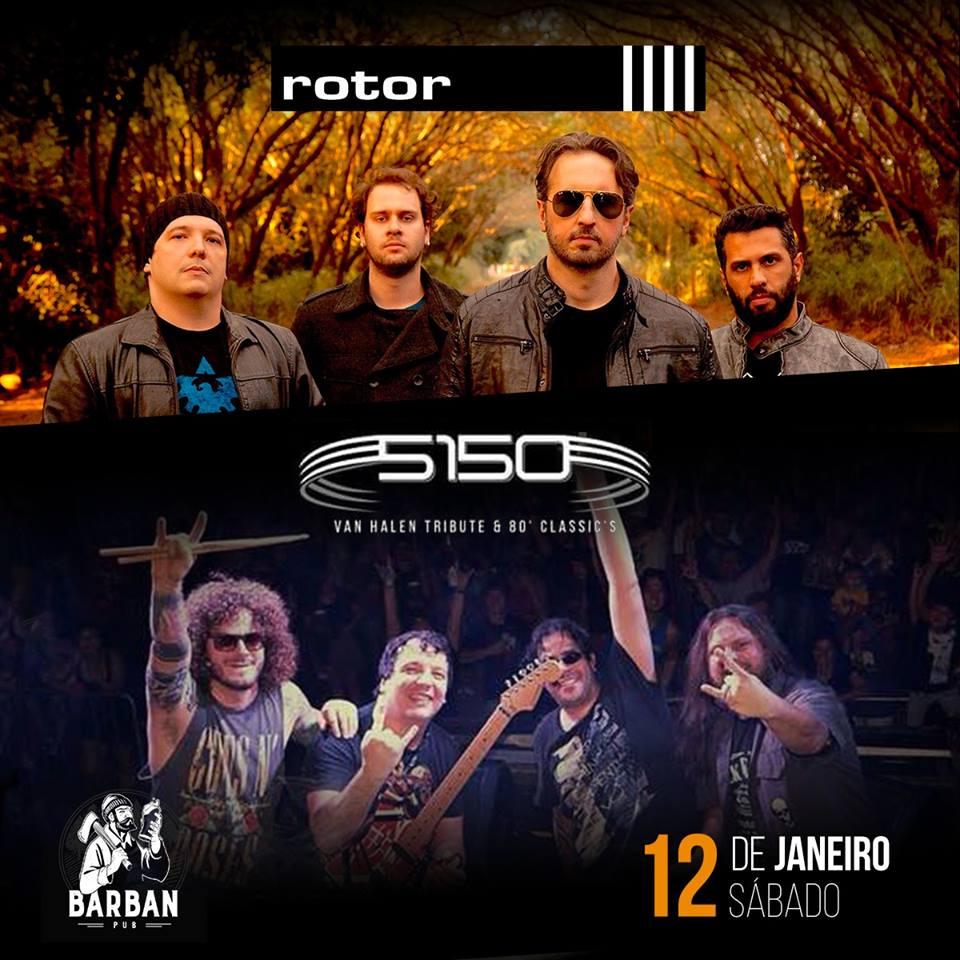 Banda Rotor + 5150 Van Halen Tribute & 80' classic's
